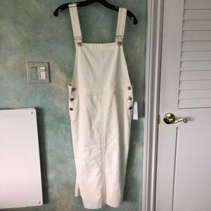 Urban Outfitters Ivory Corduroy Overall Dress NWT